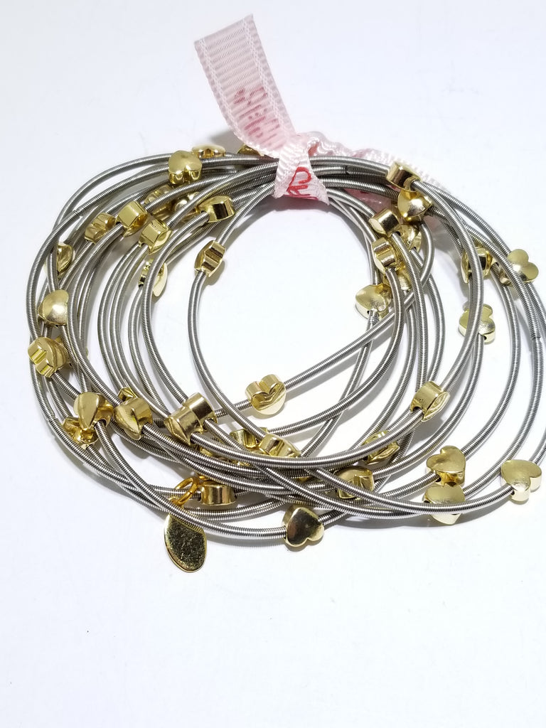 All heart piano wire bracelets - Sugar NY