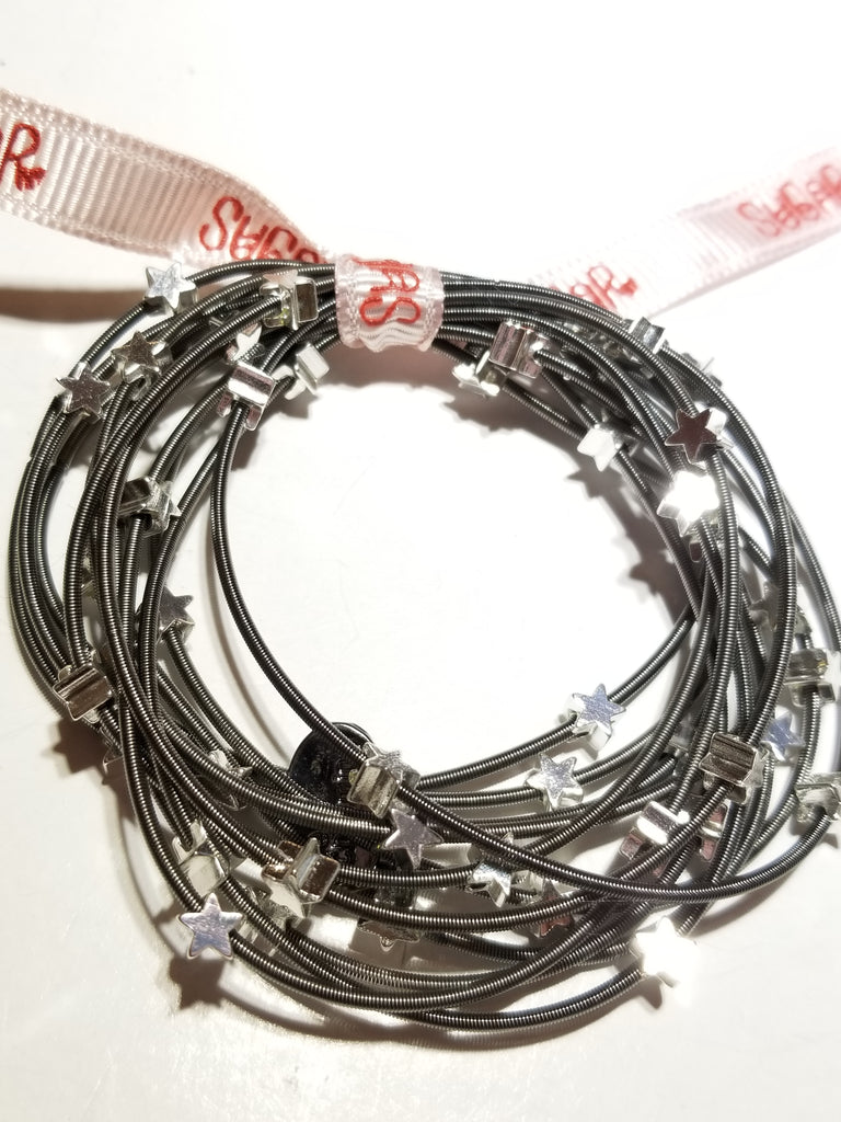 All star piano wire bracelets - Sugar NY