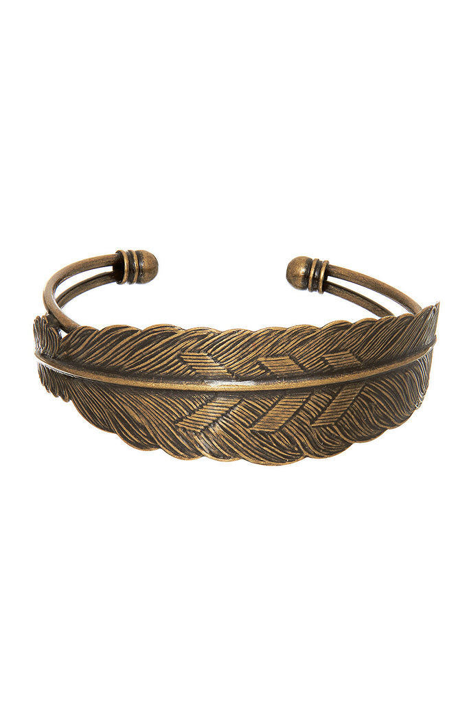 Sweet Feather Gold Cuff - Sugar NY