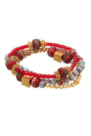 Gummi Spike Red Bracelet