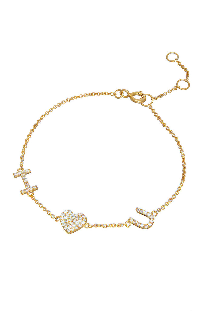 Sterling I Love U Bracelet - Sugar NY