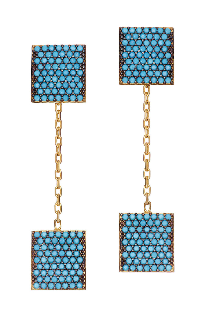 Sterling Box Earring - Sugar NY