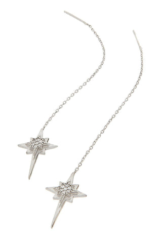 Sterling Star Earring