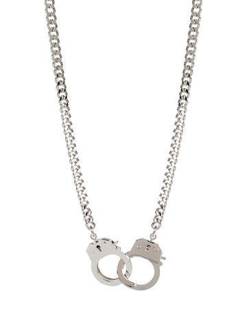 Marshmallow Ring Choker Silver Necklace