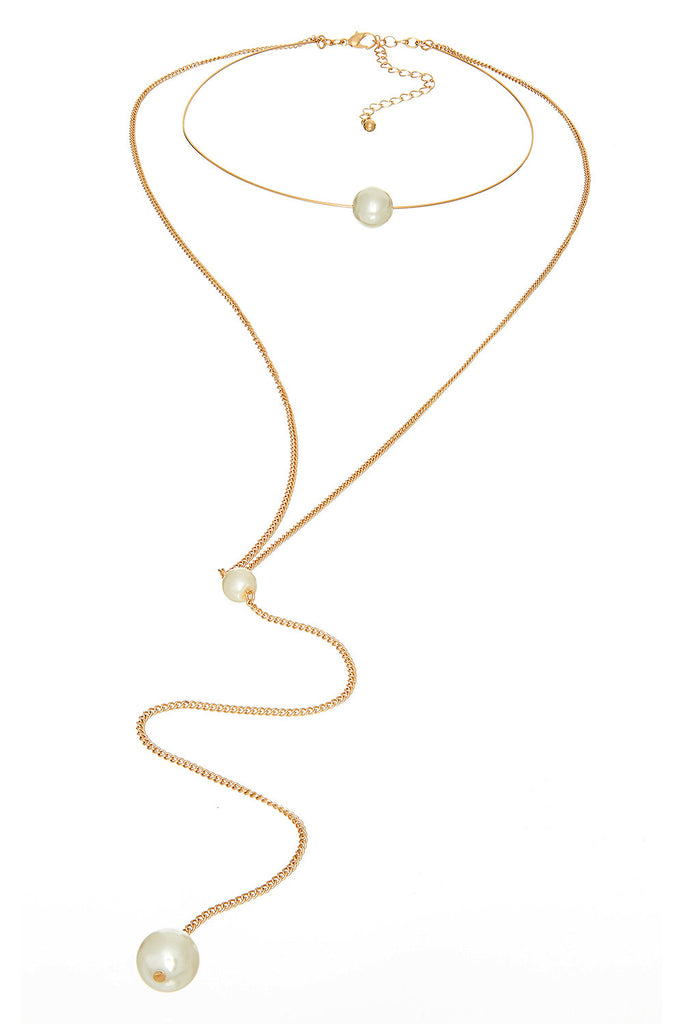 Marshmallow Ring Choker Gold Necklace - Sugar NY