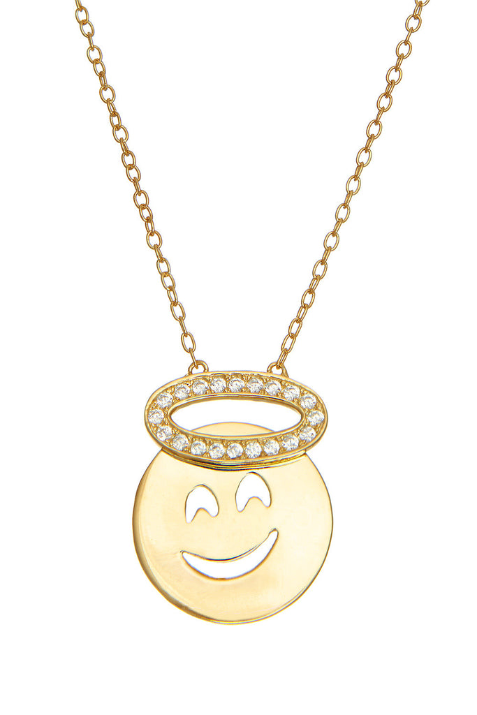 Sterling Angel Necklace - Sugar NY