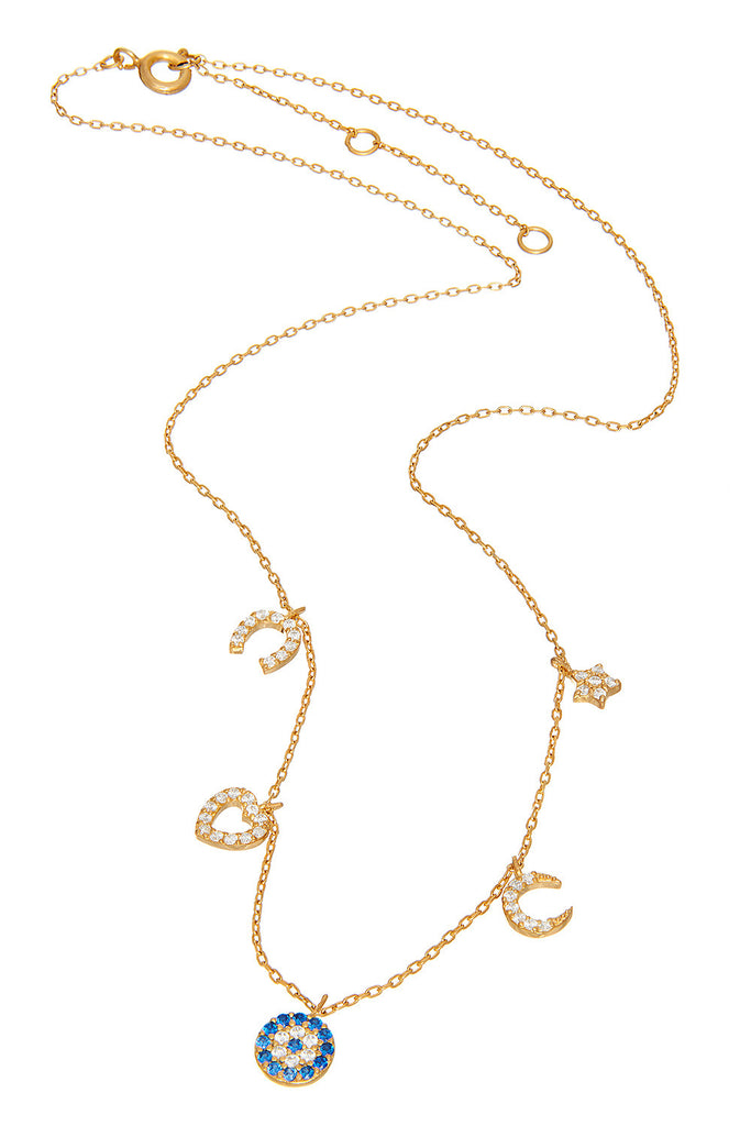 Sterling Charm Pink Gold Necklace - Sugar NY