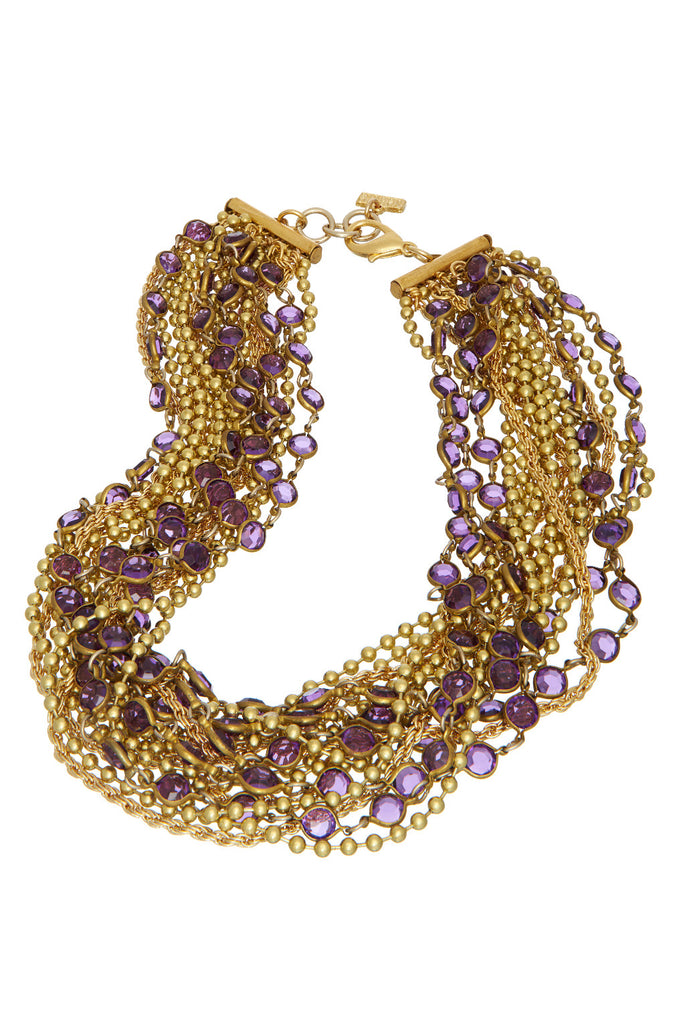 Sugar Drop Purple Necklace - Sugar NY