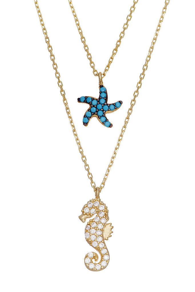 Sterling Sea Star Necklace - Sugar NY