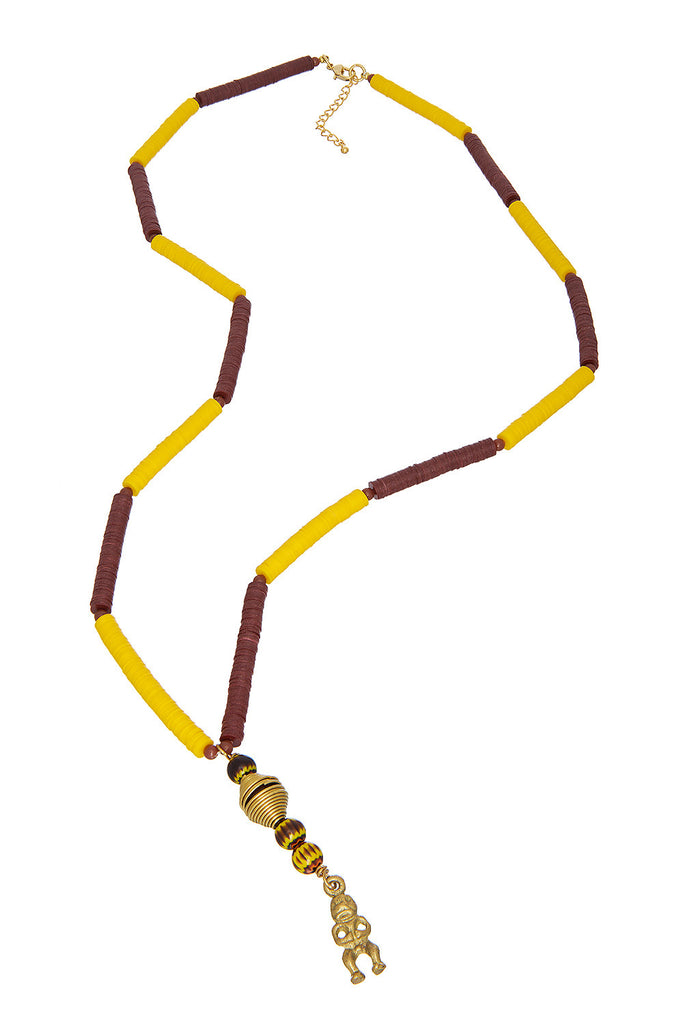 Yellow Stripe Necklace - Sugar NY