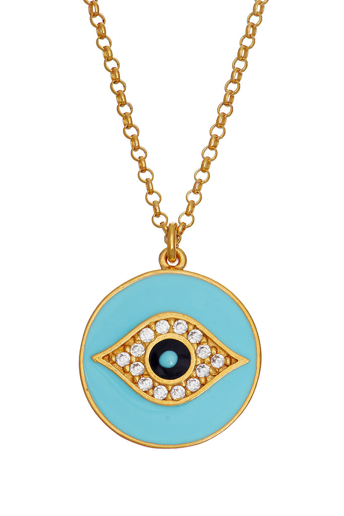 Sterling Blue Eye Necklace - Sugar NY