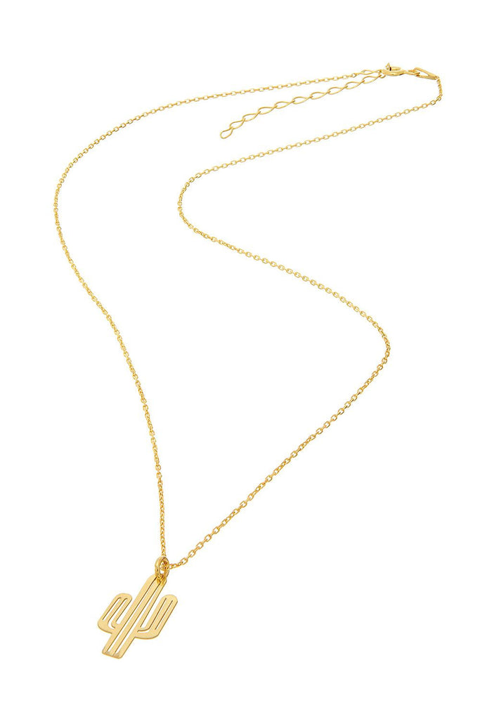 Sterling Cactus Necklace - Sugar NY