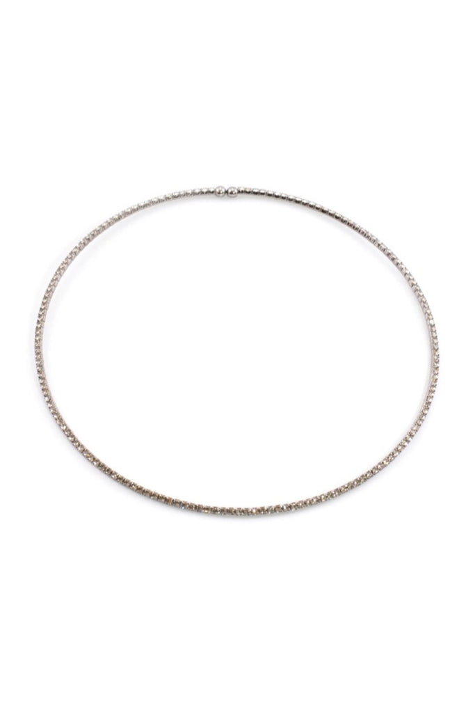 Frosted Gold Choker Necklace - Sugar NY