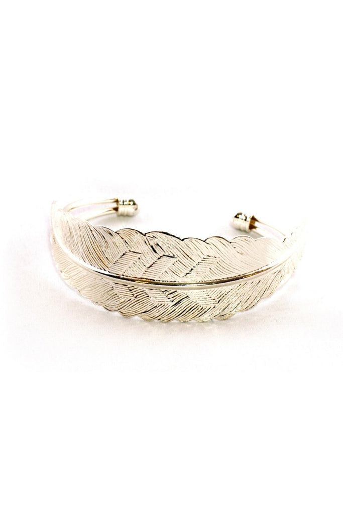 Sweet Feather Silver Cuff - Sugar NY