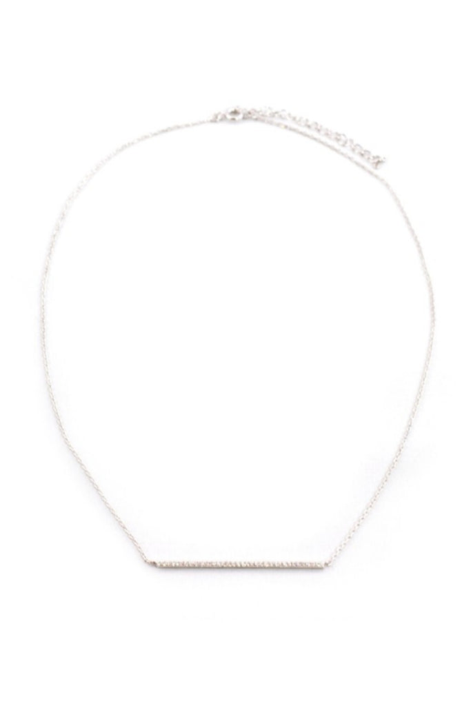 Sprinkled Bar Silver Necklace - Sugar NY