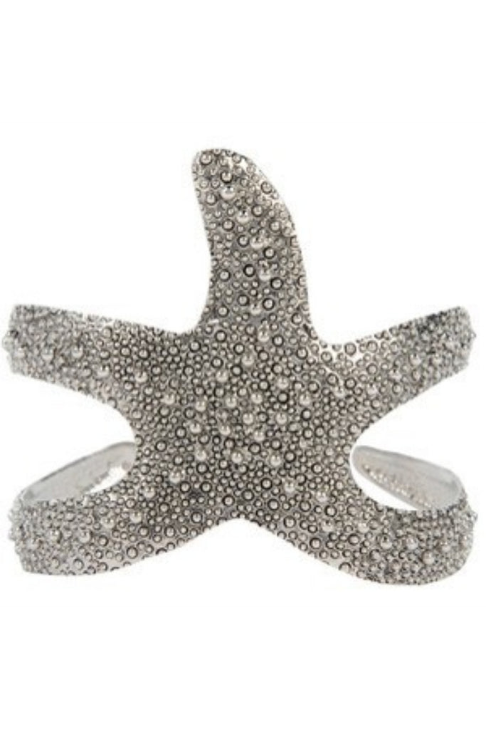 Starfish Crunch Silver Cuff - Sugar NY