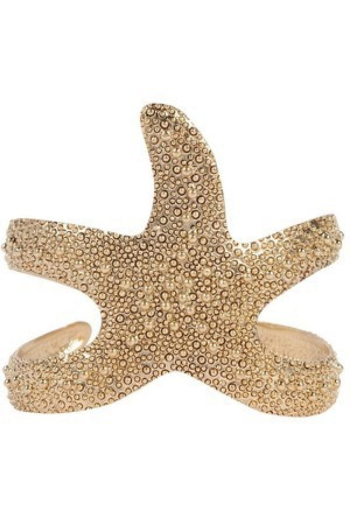 Starfish Crunch Gold Cuff - Sugar NY