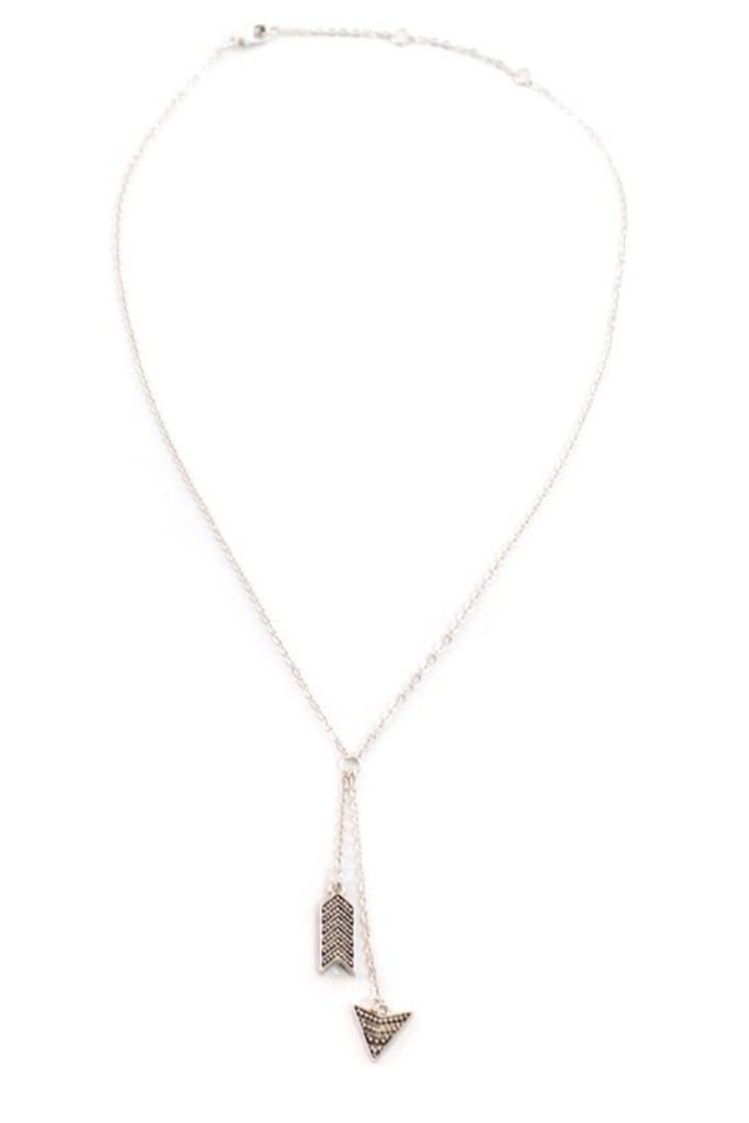 Arrowbar Silver Necklace - Sugar NY