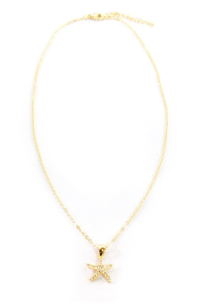 Sprinkled Starfish Gold Necklace - Sugar NY