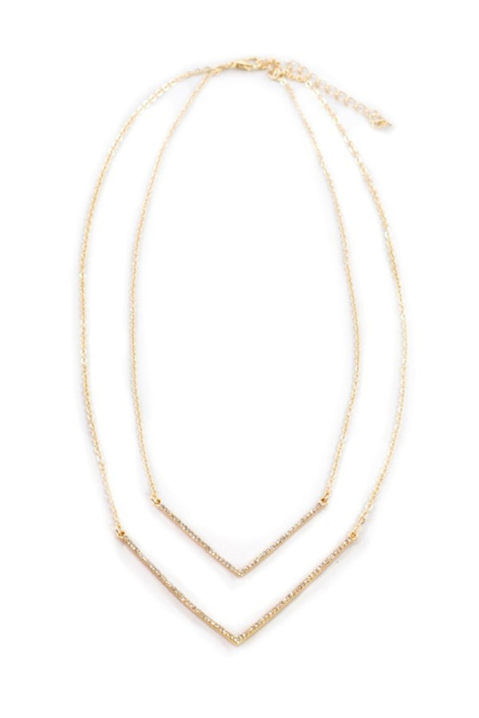 Sprinkled Doublebar Gold Necklace - Sugar NY