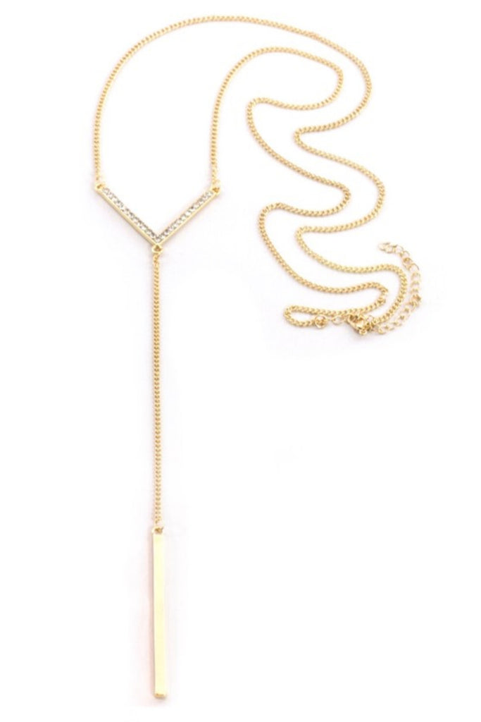 Sprinkled Drop Gold Necklace - Sugar NY
