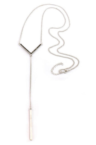 Arrowbar Silver Necklace