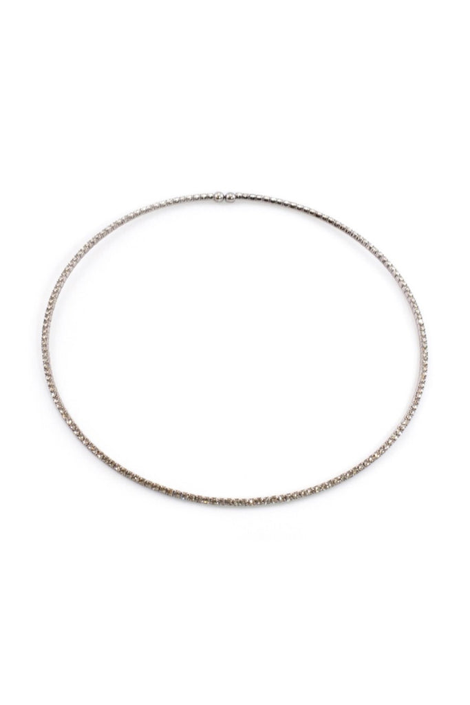 Frosted Black Choker Necklace - Sugar NY