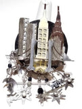 Lunch at the Ritz New York skyline vintage brooch - Sugar NY