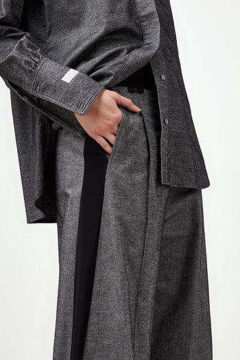 The Serena Trouser - Dark Grey & Black Brushed Cotton - SERENA BUTE