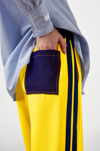 The Classic Jogger - Daffodil Yellow & Navy Silk