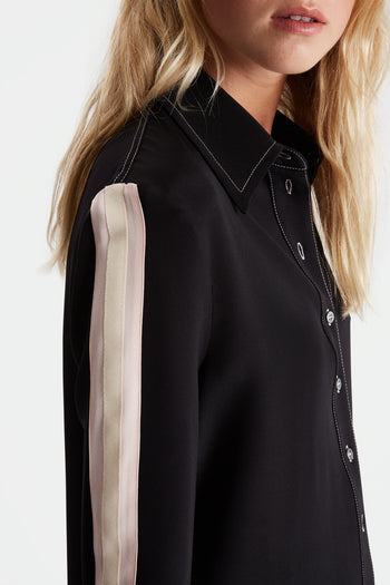 The Serena Shirt - Black, Pale Pink & Ivory - SERENA BUTE