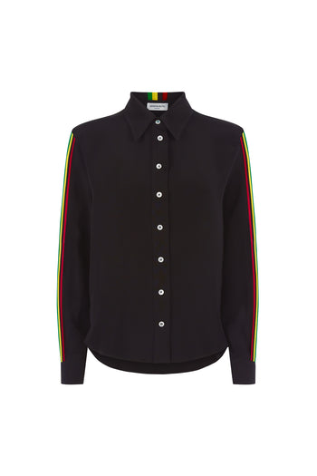 The Serena Shirt - Black & Rasta/Jamaican Silk - SERENA BUTE
