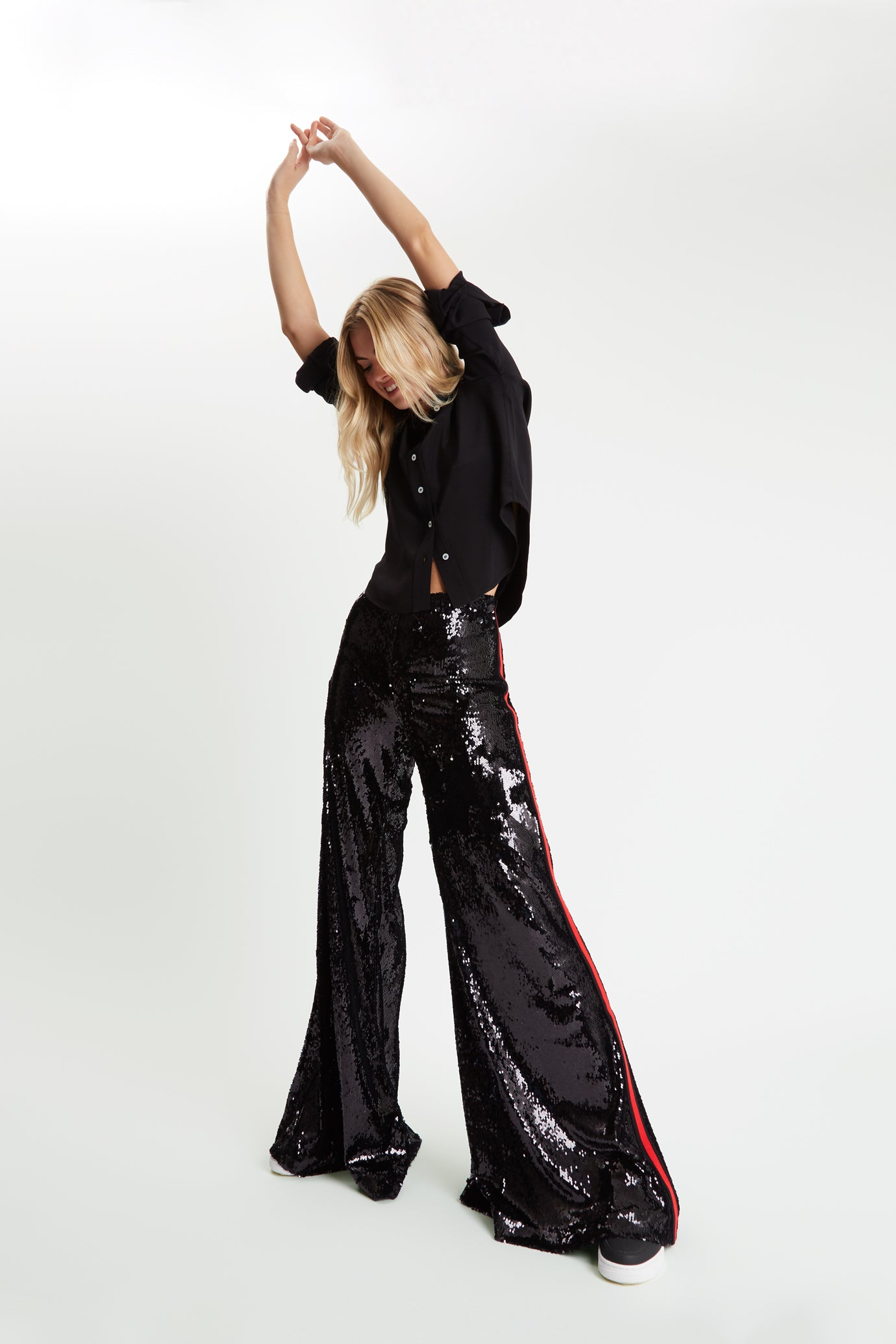 The Sequin Flare - Black & Red - SERENA BUTE