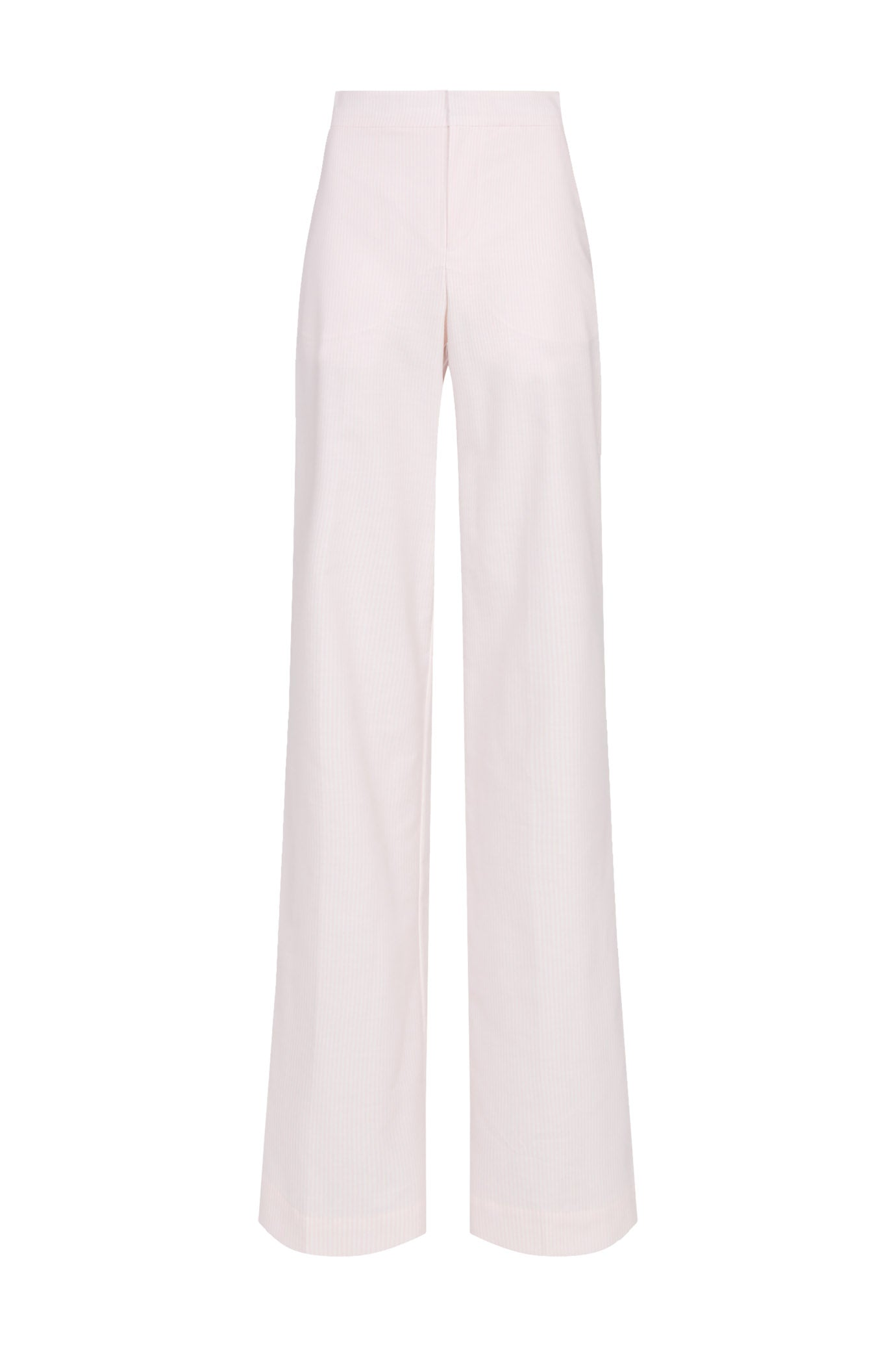 The Camilla Trousers - Pale Pink Stripe Cotton - SERENA BUTE