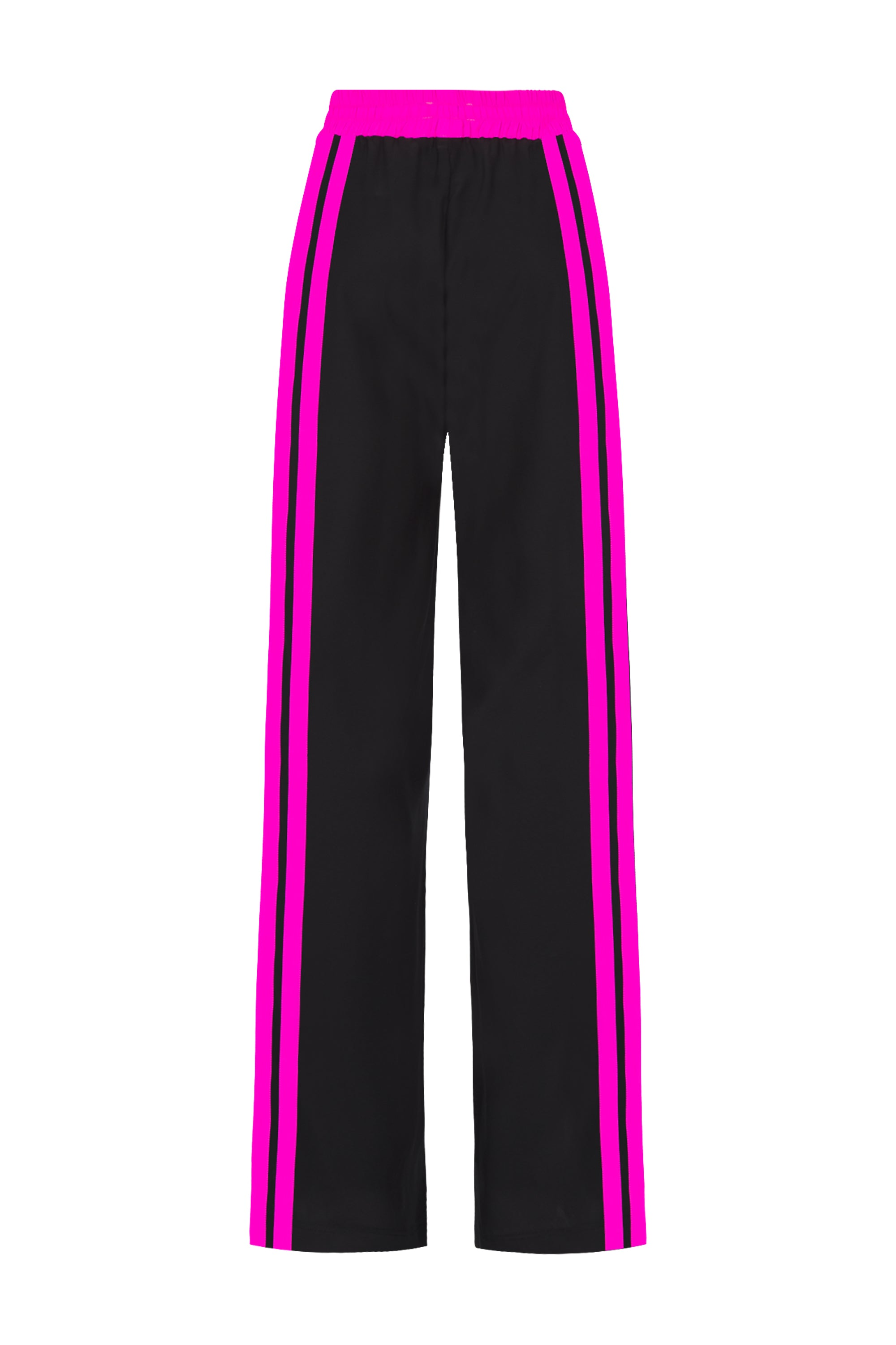 The Classic Jogger - Black & Shocking Pink Silk - SERENA BUTE