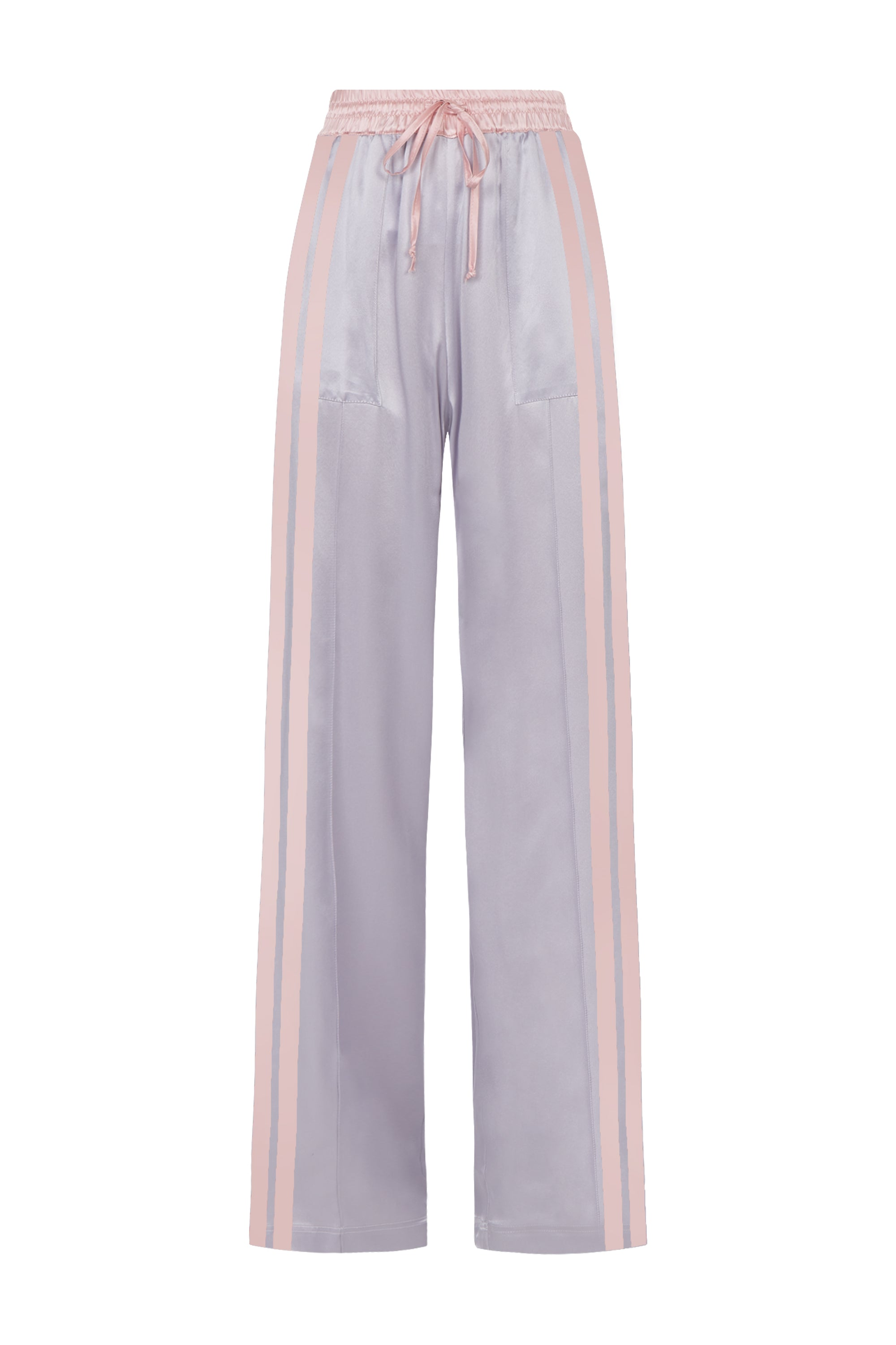 The Classic Jogger - Silver & Dusky Pink Silk - SERENA BUTE