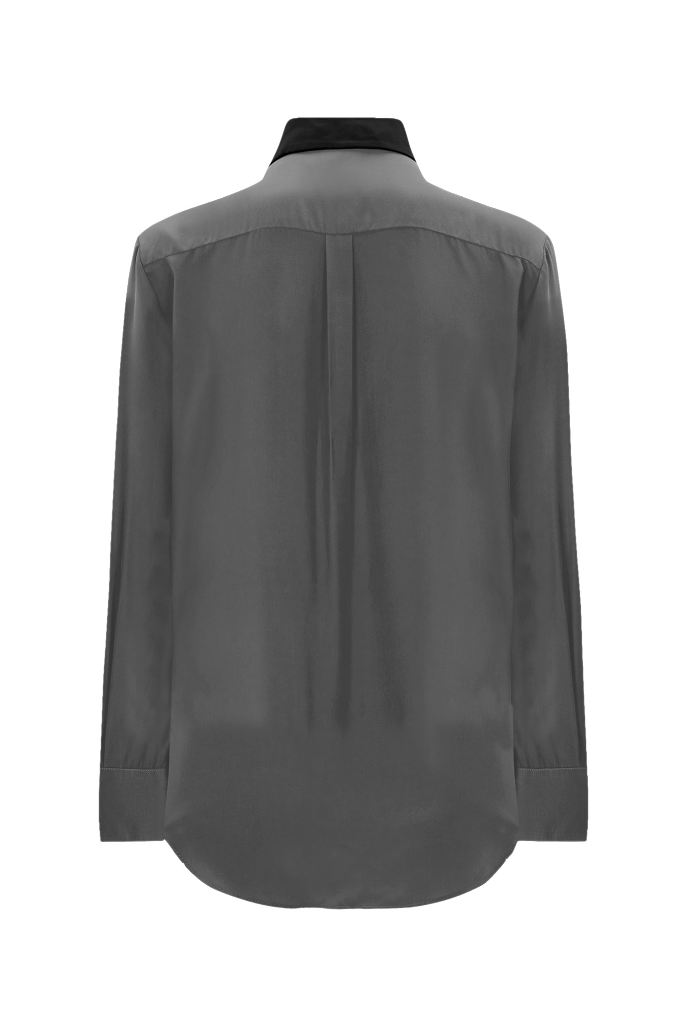 The Classic Shirt - Grey & Black Silk