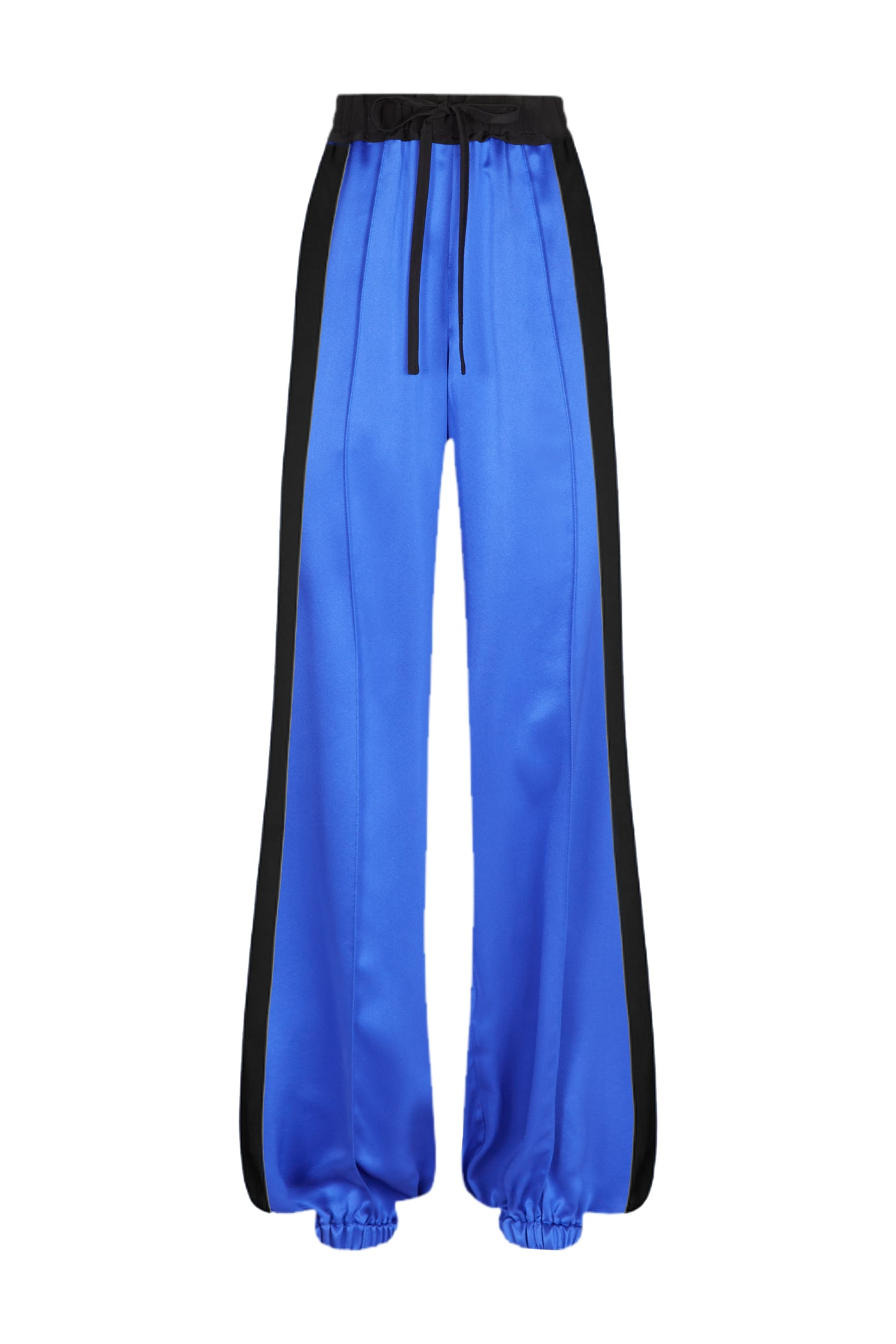 Classic wide leg jogger gathered sapphire blue Serena Bute