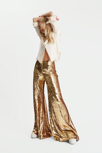 The Sequin Flare - Gold, Black & Ivory - SERENA BUTE
