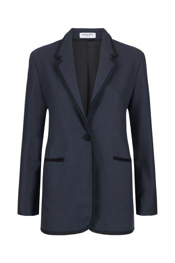 The Serena Blazer - Grey & Black Bute Wool - SERENA BUTE