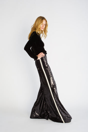 The Sequin Flare - Black & Ivory - SERENA BUTE