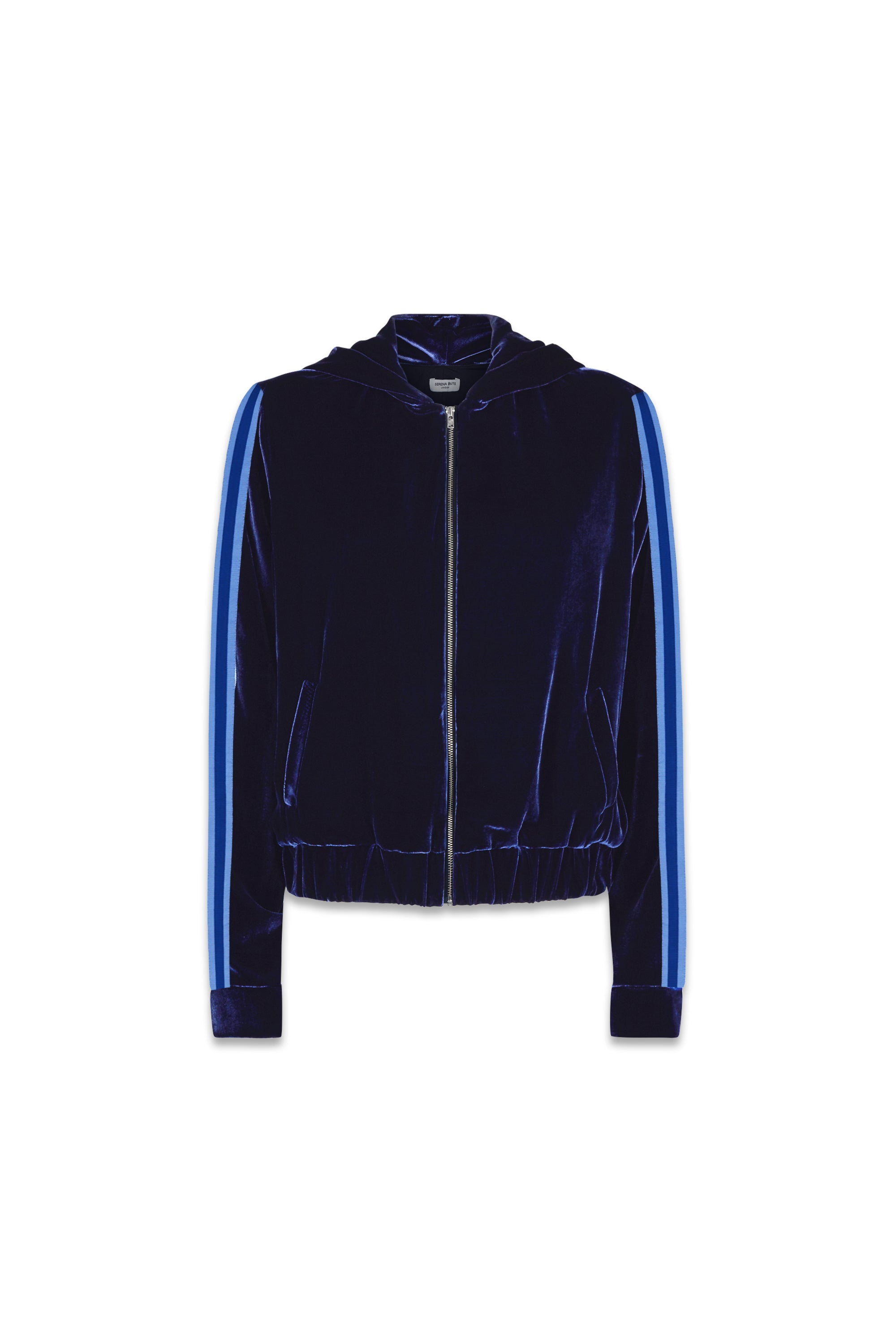 The Cropped Hoodie - Insignia, Navy & Blue Velvet