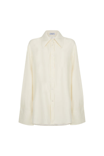 The Extra Oversized Shirt - Ivory Silk - SERENA BUTE