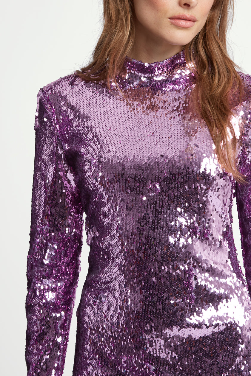 The Sequin Dress - Lilac