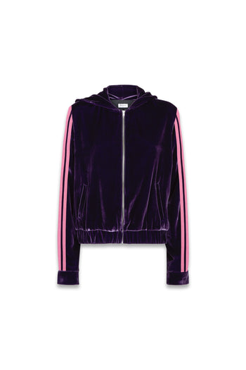 The Cropped Hoodie - Mulberry Purple & Pink Velvet