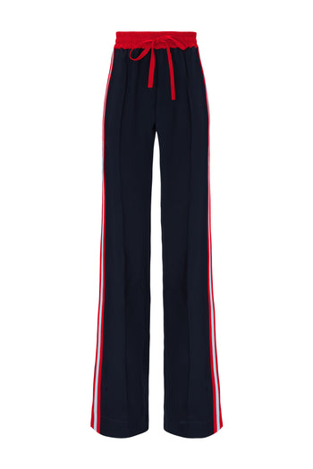 The Skinny Jogger - Navy, Red & Sky Blue Silk