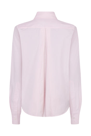 The Open Back Shirt - Pale Pink Cotton - SERENA BUTE