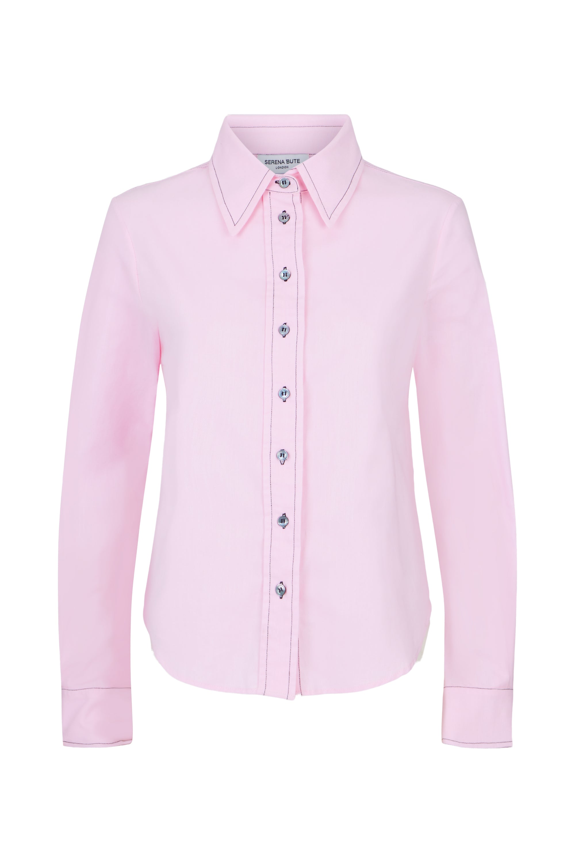 The Serena Shirt - Pale Pink Brushed Cotton - SERENA BUTE