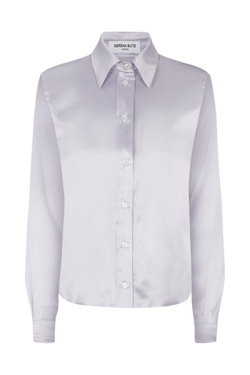 The Serena Shirt - Silver Silk - SERENA BUTE