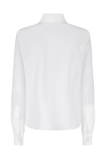 The Serena Shirt - White Silk - SERENA BUTE